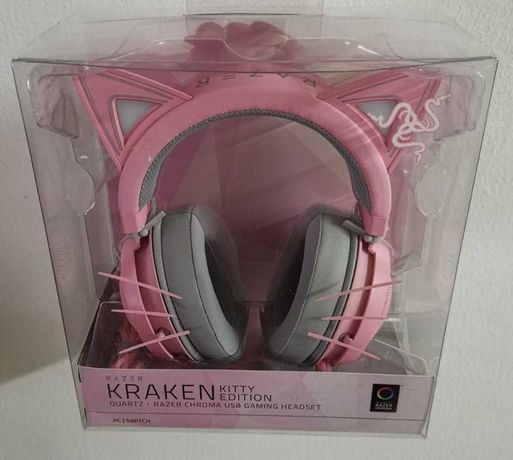 Headset Razer Kraken Kitty Edition Quartz (ainda na caixa)