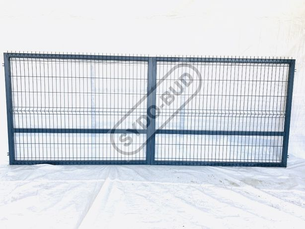 Brama panelowa dwuskrzydłowa 4m x 1,5 + AKCESORIA PRODUCENT