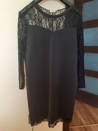 elegancka czarna sukienka xxl