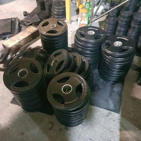 Диски для штанги прорезинені( всередині сталь)