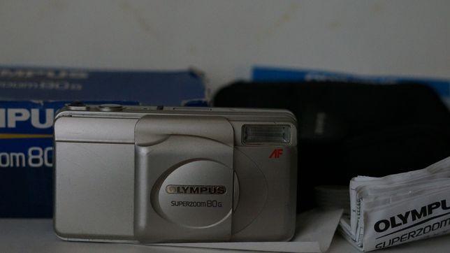 Фотоаппарат плёночный Олимпус Olympus superzoom 80g рабочий с документ