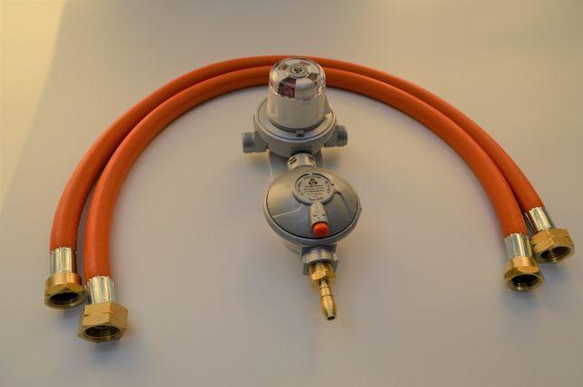Reduktor automatyczny zestaw do 2 butli propan LPG instalacja grzewcza