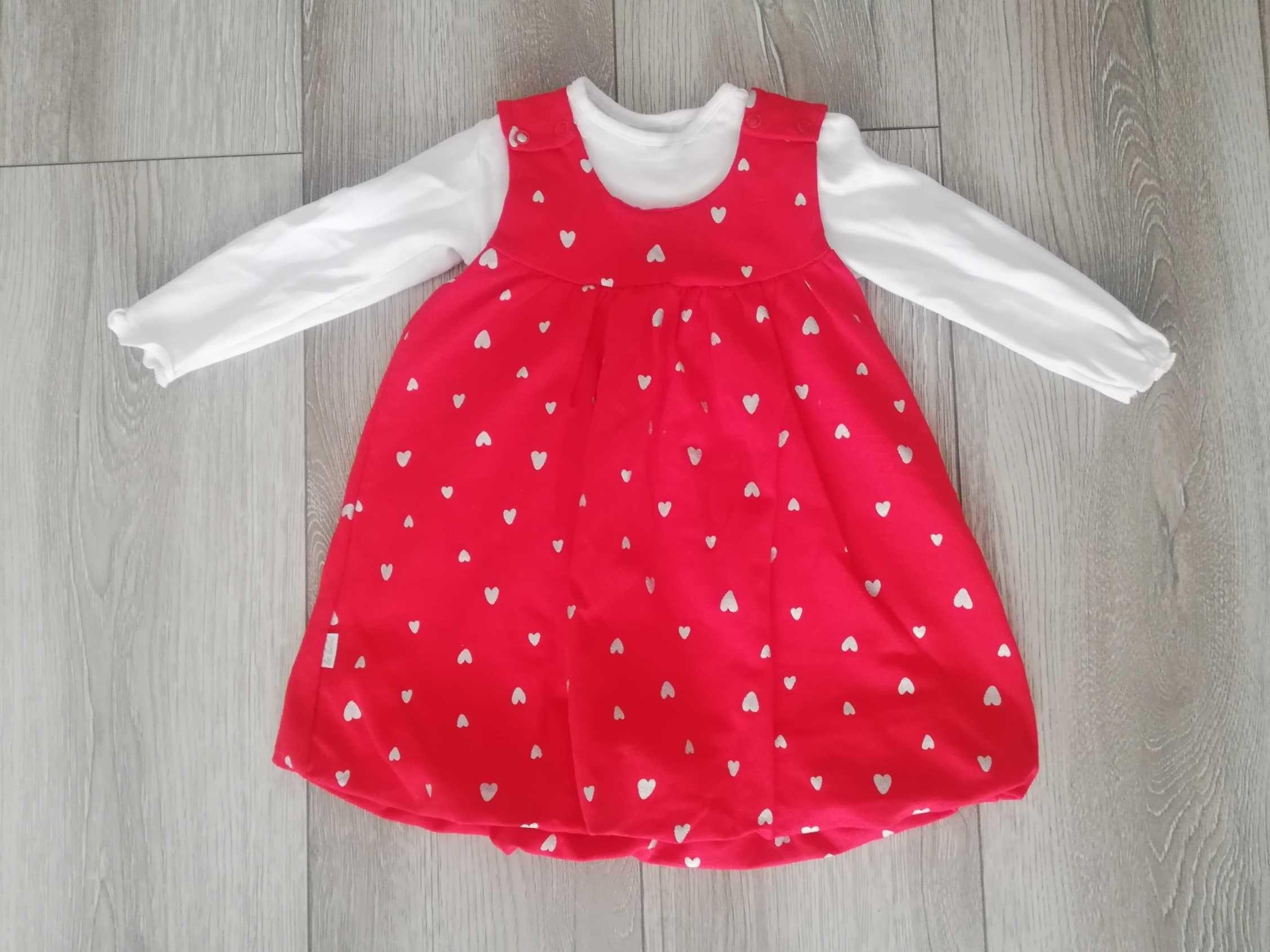 Sukienka dla dziewczynki rozmiar 80