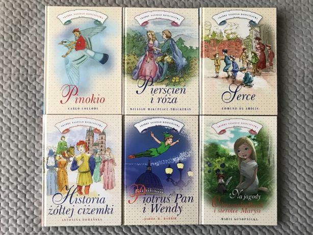 """Pinokio"", ""Pierścień i róża"", ""Serce""... - 6 książek"