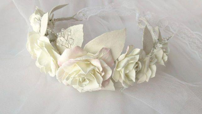 Свадебный веночек из фоамирана. Венок для фотосессии