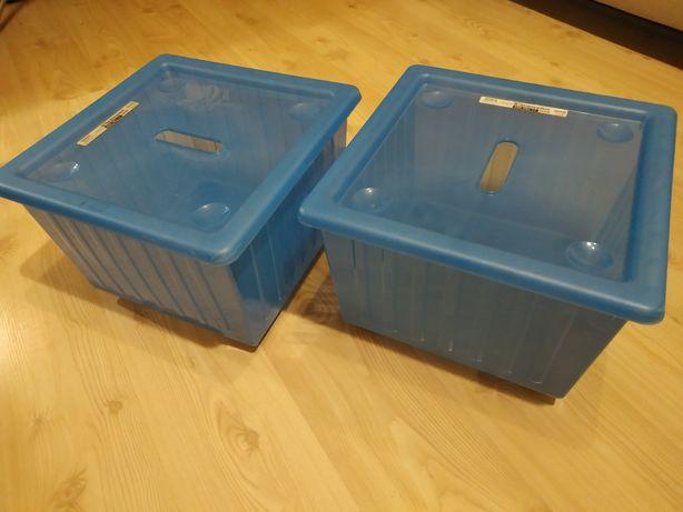 Ikea vessela pudła dla dzieci na kółkach z pokrywami