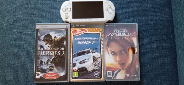 PSP-E 1004 Biały+Trzy Gry Gratis