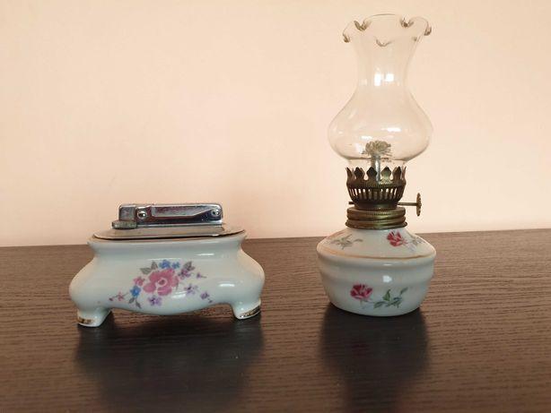 PIĘKNY ZESTAW lampa naftowa + zapalniczka UNIKAT