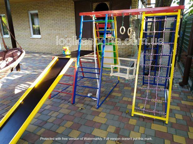 Игровая детская площадка, качели, спортивный комплекс, горка