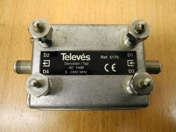 Derivador Televés 5170- 4 vias