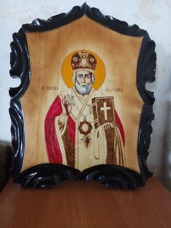 Икона Св. Николая с дерева