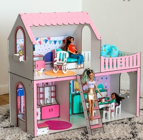 NEW! Кукольный домик NestWood Ляльковий будиночок дім Мебель Барби Лол