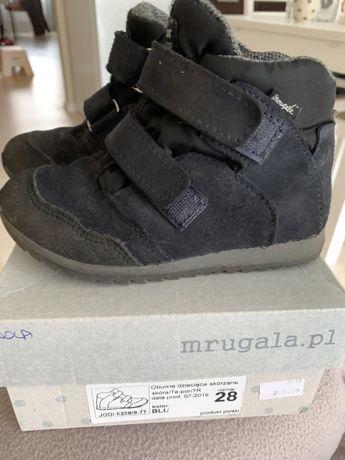 Buty zimowe Mrugała ciemny granat 28
