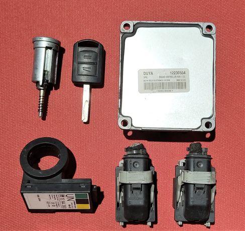 Блок управления двигателя Opel Meriva A 1.6b Z16XE 12230554 HSFI-2.5