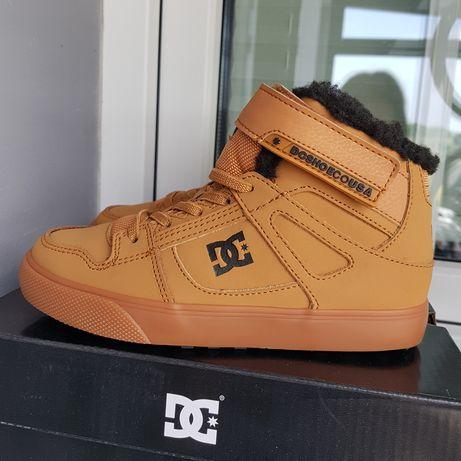 nowe buty chłopięce zimowe skórzane DC r 32 wkl.20cm