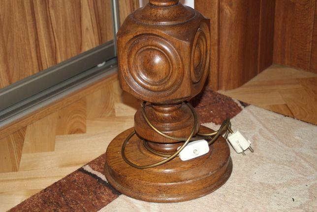 Lampa debowa toczona stylowa stara