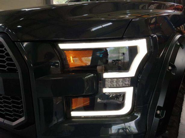 Передние фары Ford F150 (15-17) Led оптика фара оптика Ф150 тюнинг