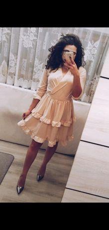 Nowa beżowa sukienka Pakuten L