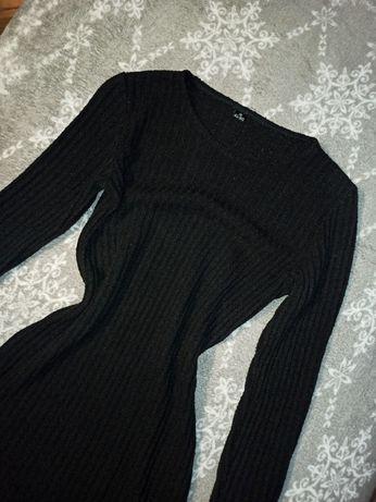 Czarna sukienka dzianinowa AL-BO