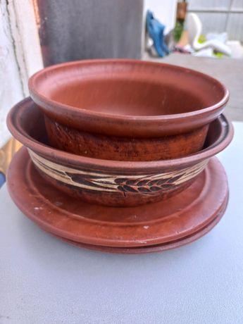 Посуда из глины.