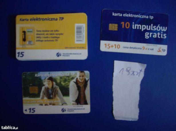 Karty telefoniczne chipowe - zamienię