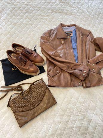 Кожаная куртка,сумка , обувь