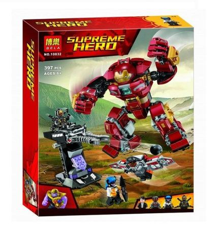 Конструктор BELA 10832 Supreme Hero Бой Халкбастера 10832 Аналог Lego