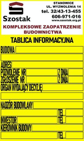 Tablica informacyjna tablica budowlana na budowę