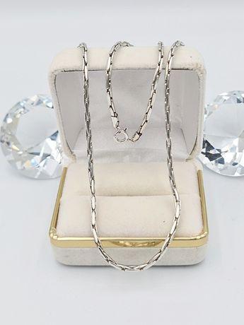 925 Piękny srebrny łańcuszek