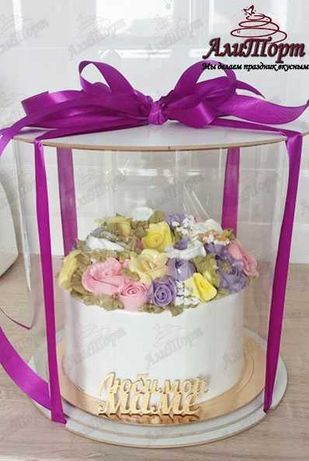 Торт за заказ, кремовая флористика