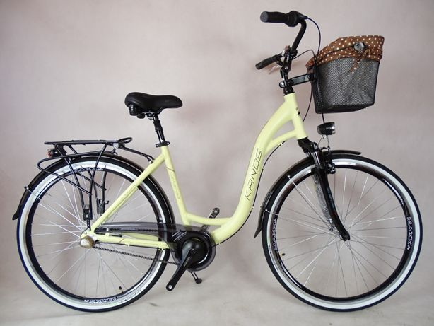 Rower miejski KANDS WENECJA 3v kremowy mat