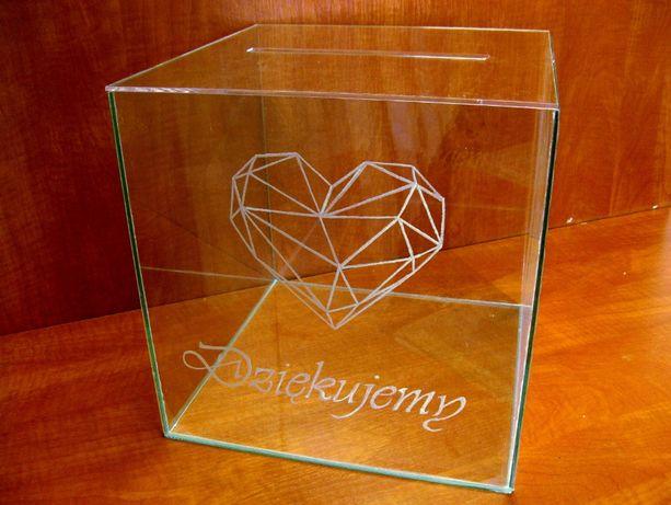 Skarbona weselna na koperty,skarbonka duża, pudełko na kartki PROMOCJA
