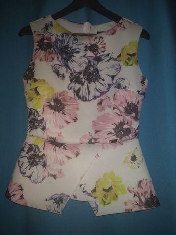 Bluzka w kwiaty Figl L z baskinka