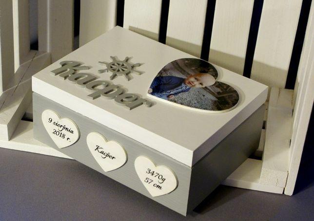 Pudełko na prezent dla dziecka chrzest chrzciny roczek komunia