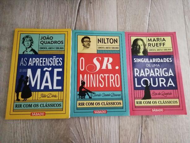 """Coleção livros """"Rir com os Clássicos"""" da Revista Sábado"""