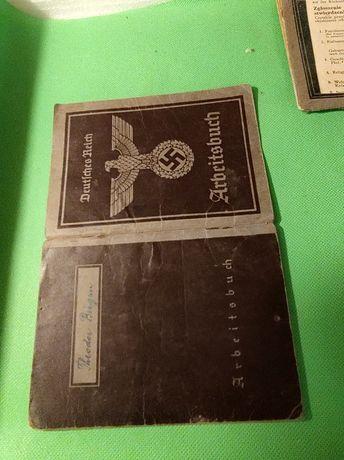 Arbeistbuch - III Rzesz, tzw. książeczka pracy