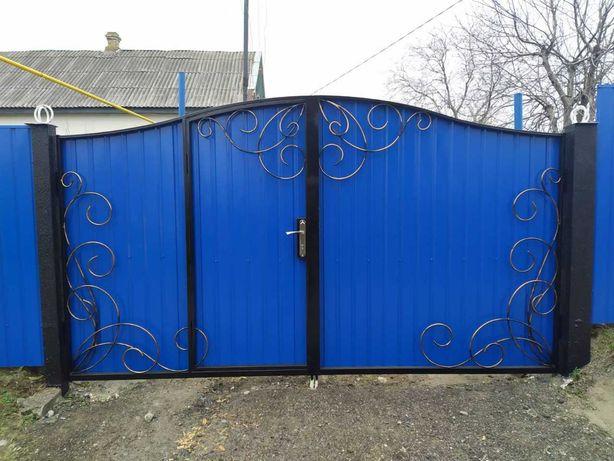 Продам ворота 3 м с калиткой внутри 9800 грн