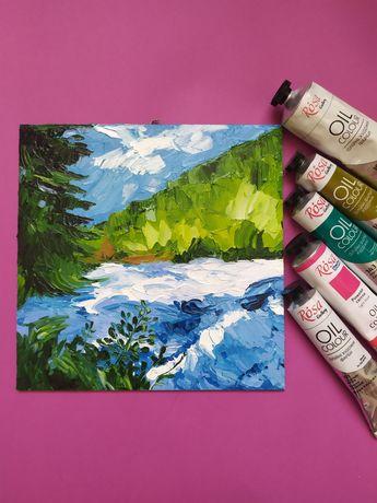 """Картина маслом """"Літній пейзаж"""""""