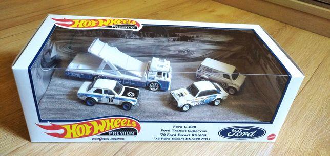 Hot Wheels Ford Race Team Premium Car Culture Diorama Box