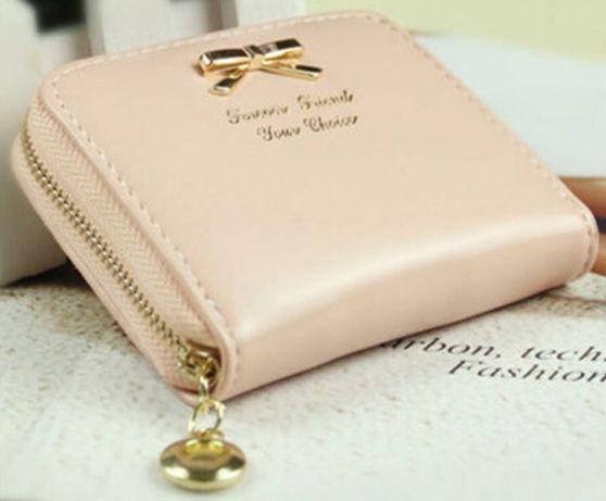 Carteira porta-moedas novo rosa claro