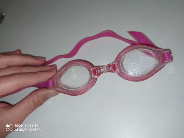 Очки для плавания розовые в бассейн Adidas