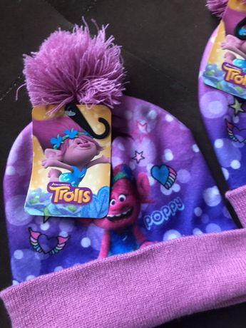Czapka  Trolls Trole bajka Disney