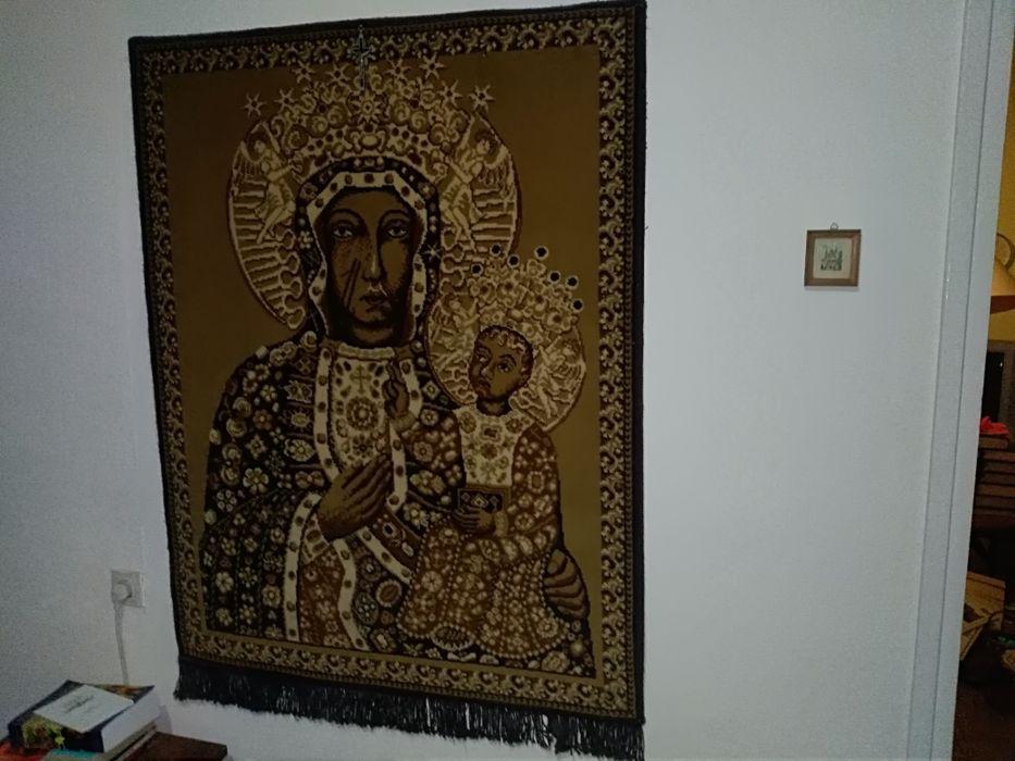 Matka Boska Częstochowska obraz dywan PRL Gdańsk - image 1