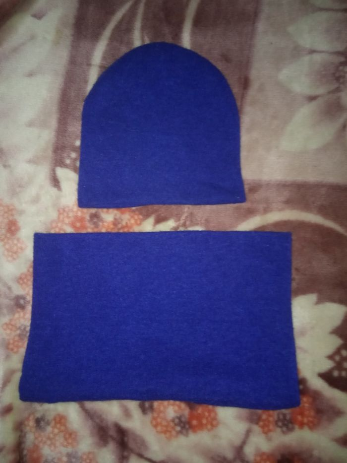Синяя шапка + снуд Запорожье - изображение 1