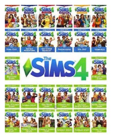 The Sims 4 PL + wszystkie dodatki i akcesoria