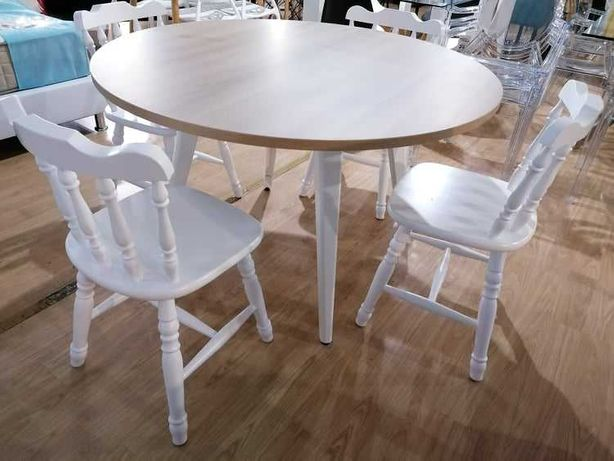 Cadeira vintage pintada branco