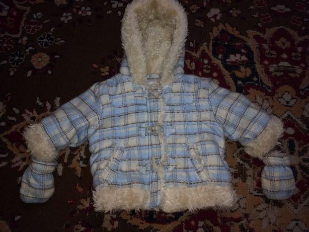 Пальто детское 0-3 месяца