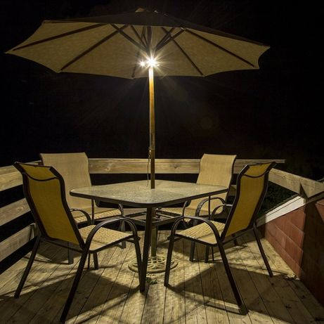**Lampa 24 LED pod parasol ogrodowy lub namiot
