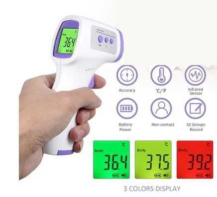 Термометр бесконтактный (Пирометр) температуры тела (Градусник)