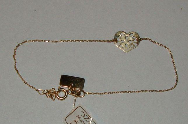 Złota bransoletka 14 karat próby 585-Firma Szafir-Wzór 101